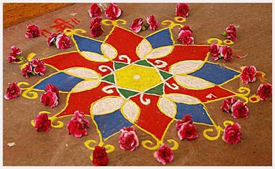 Beautiful Diwali Rangoli