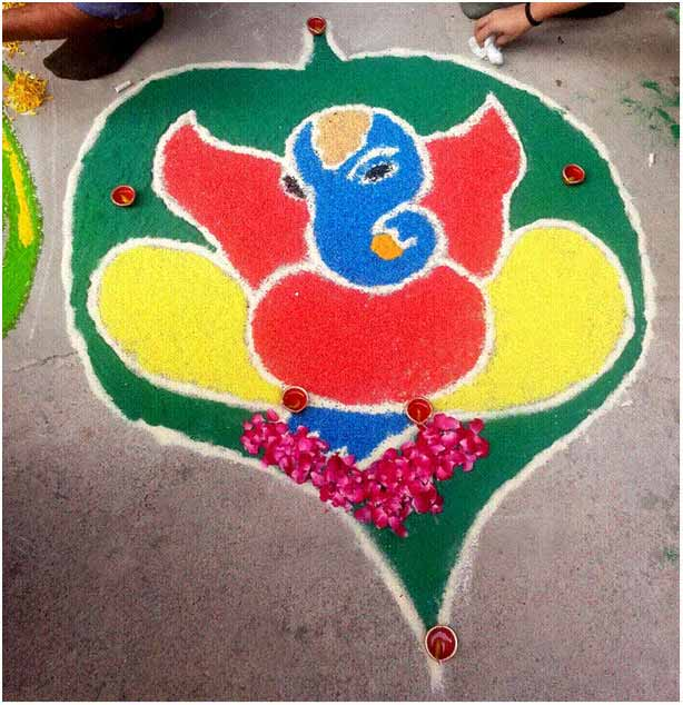 Easy Rangoli Design Simple Rangoli Designs Images Diwalifestival