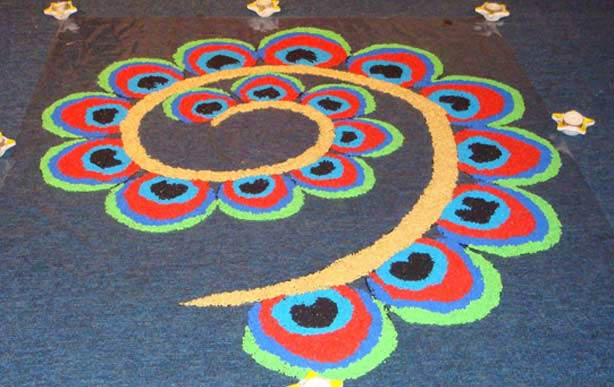corner rangoli design  u2013 border rangoli designs  diwalifestival