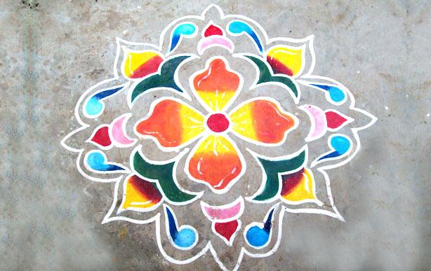 Easy Rangoli Design for Diwali - Simple Rangoli Designs for Diwali ...