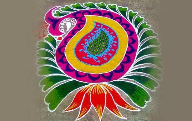 floral rangoli designs for diwali   diwalifestival org